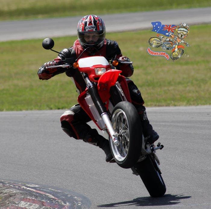 XR650R Supermoto ridden by Trevor Hedge
