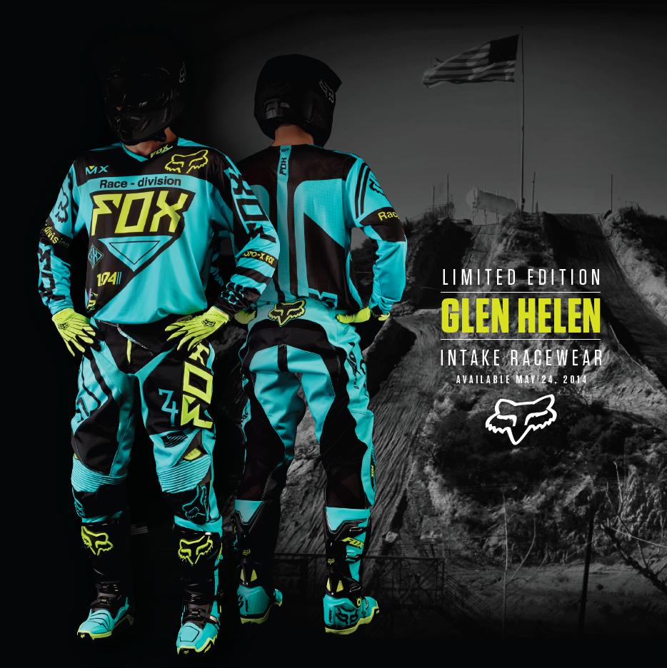 Fox Glen Helen Intake Racewear out tomorrow (May 24)