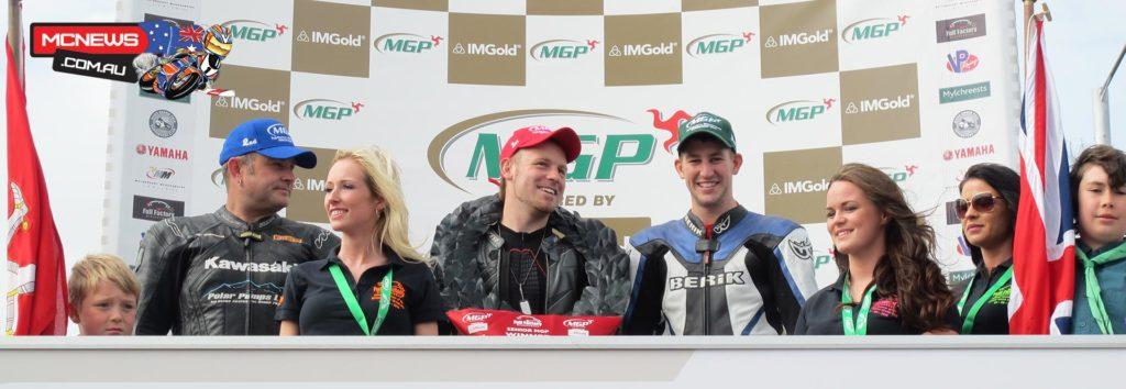 Senior Manx Grand Prix podium 2014