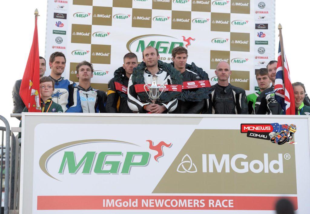 IMGold Manx Grand Prix Newcomers combined podium