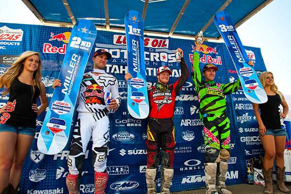 450 Class podium Utah: Dungey, Canard, Tomac. (Photo: Matt Rice)