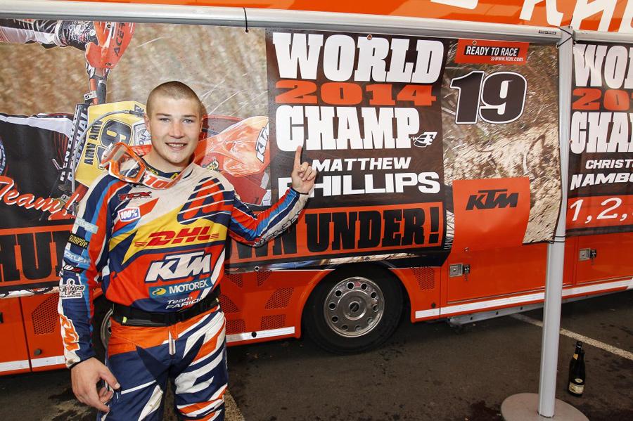 Matt Phillips Enduro 3 World Champion