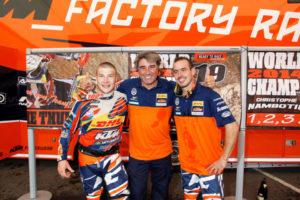 The KTM Champions Matthew Phillips and Christophe Nambotin
