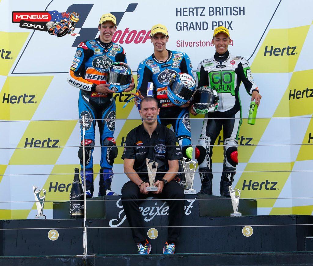Moto3 Podium Silverstone 2014