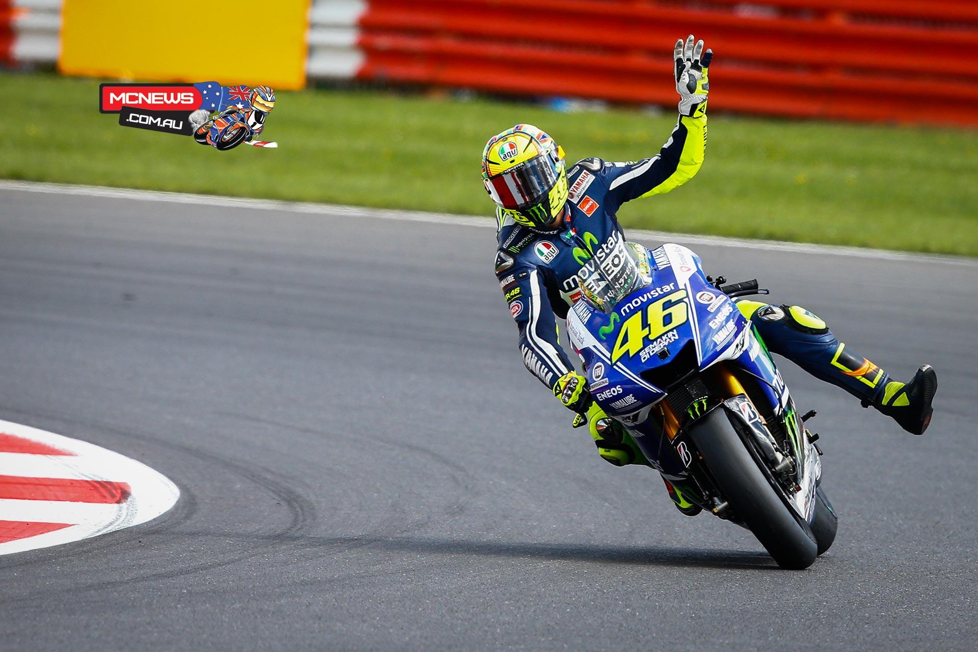 Marquez fends off Lorenzo at Silverstone – Valentino Rossi Birthday Card
