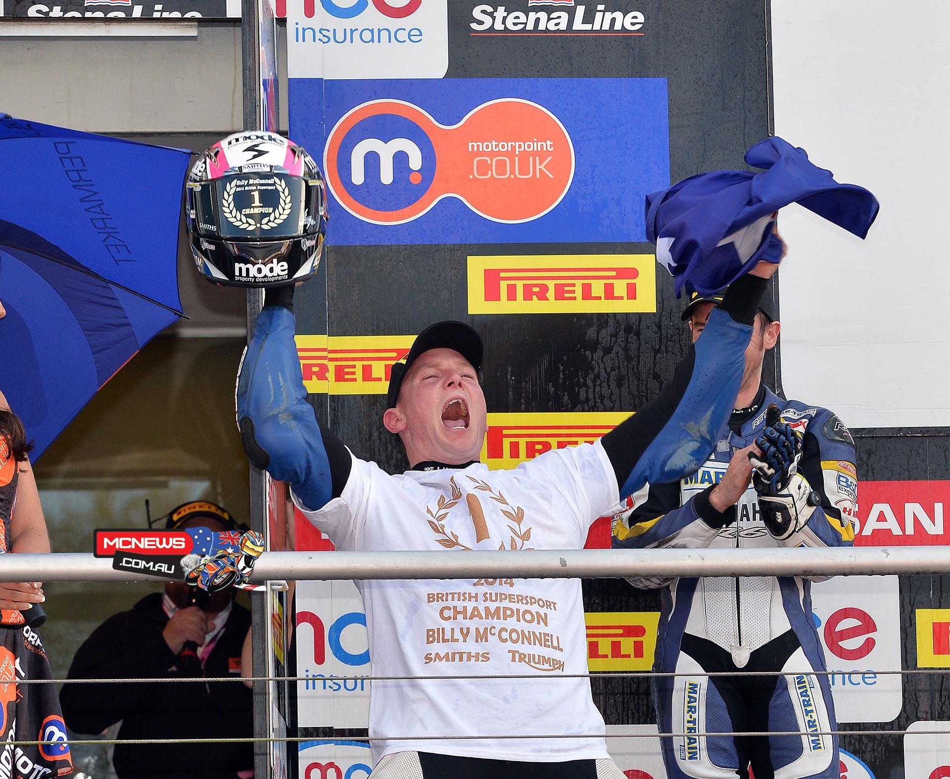 Billy McConnell 2014 British Supersport Champion