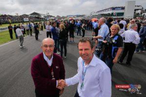 Dorna Sports CEO Carmelo Ezpelata and President of Motorcycling Australia Braxton Laine