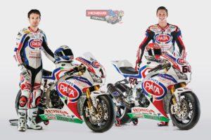 Pata Honda World Superbike 2015 - Michael van der Mark and Sylvain Guintoli