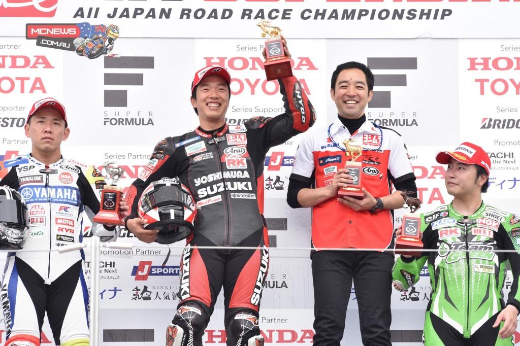 Japanese Superbike 2015 - Round One - Suzuka - 1st - Tsuda Takuya / 2nd - Katsuyuki Nakasuga / 3rd - Kazuki Watanabe