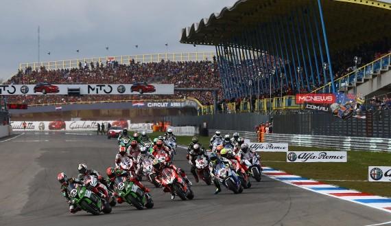World Superbike Assen 2015 Race Start