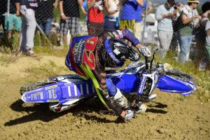 MX2 Round winner Valentin Guillod shows his flamboyant style