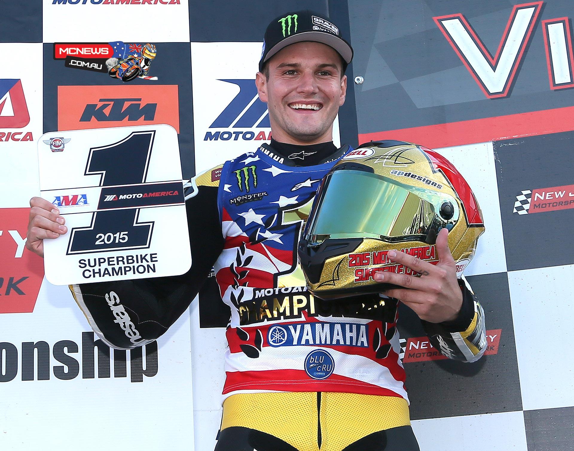 Cameron Beaubier won the 2015 MotoAmerica Superbike Championship on Sunday at New Jersey Motorsports Park. Photography by Brian J. Nelson.