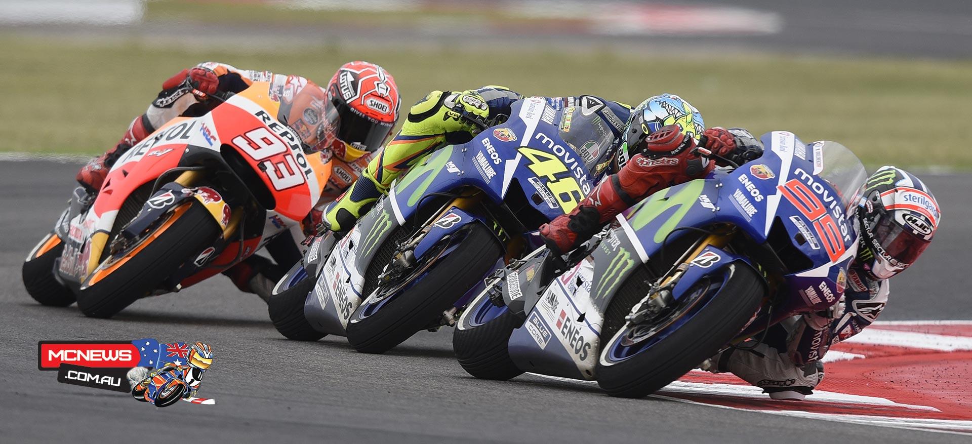 Jorge Lorenzo, Valentino Rossi, Marc Marquez