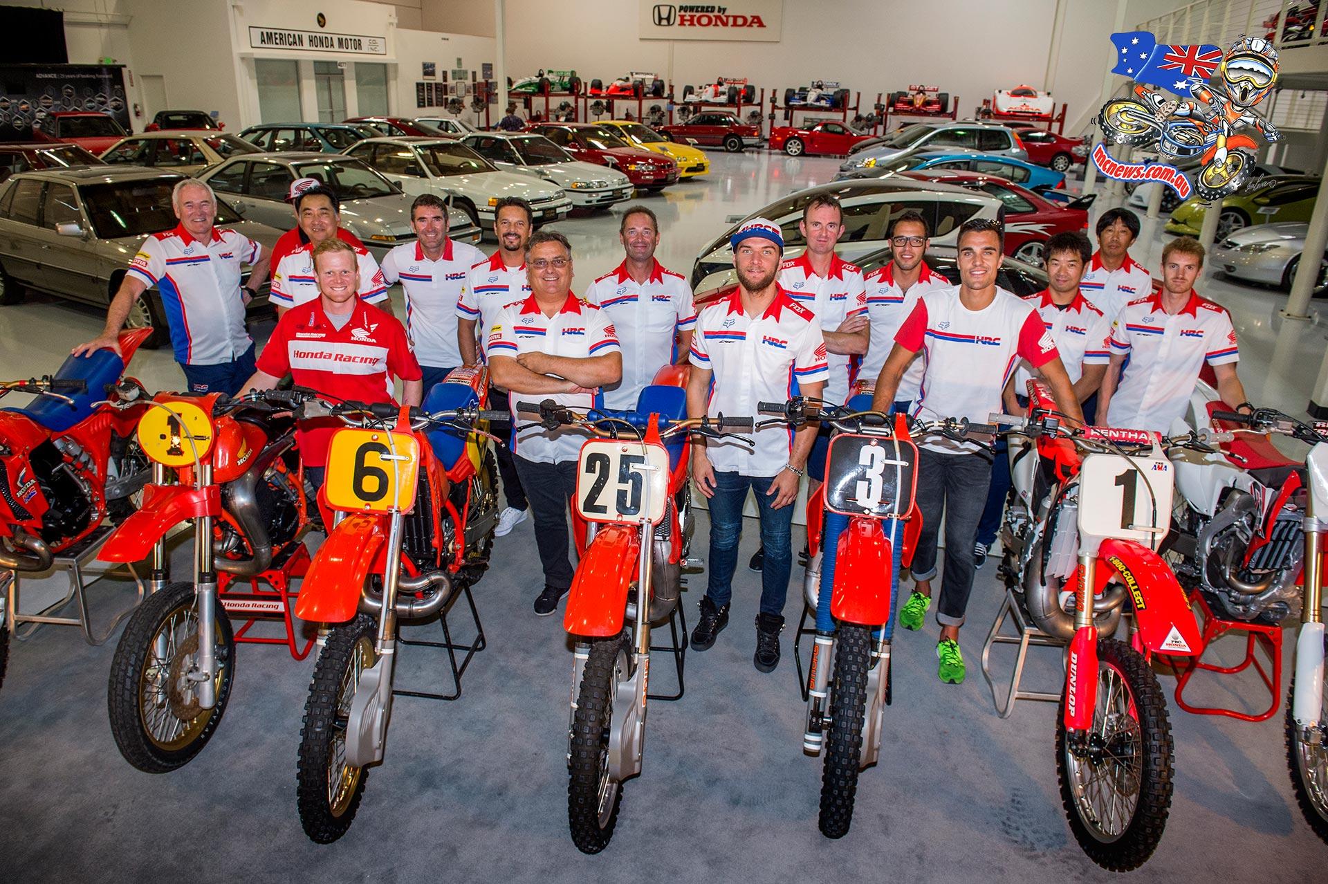 Hrc Team At American Honda Museum Pit Bike The