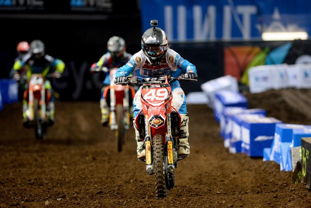 Jimmy Decotis on his way to the SX2 championships