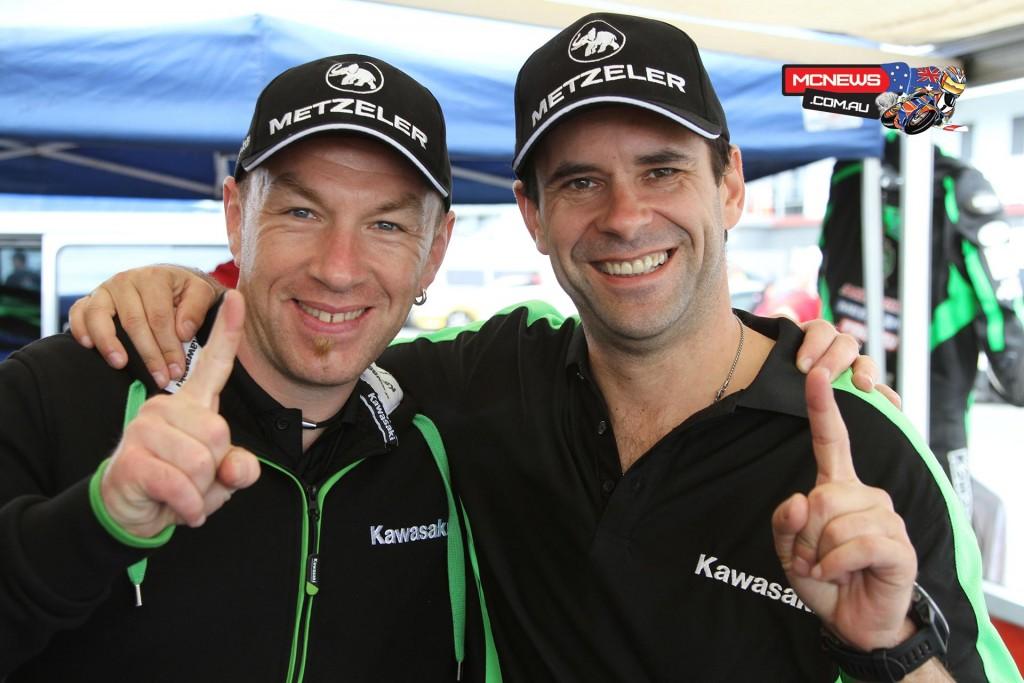 Roman Stamm (F2 600) and Horst Saiger (F1 Superbike)