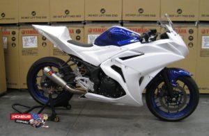 Yamaha YZF-R3 Racer - Prototype machine pictured
