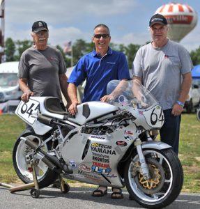 Nick Ienatsch with TZ builders Kurt Lentz and Rusty Bingley
