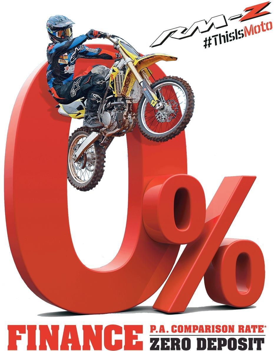 0%p.a Comparison Rate Suzuki Finance on 2016 Suzuki RM-Z