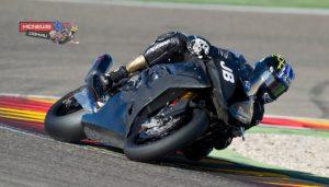 Josh Brookes testing at Aragon - WorldSBK - Image by Graeme Brown / GeeBee Images
