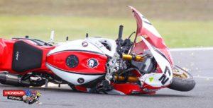 Jamie Stauffer's crashed Honda CBR 1000 RR SP Fireblade