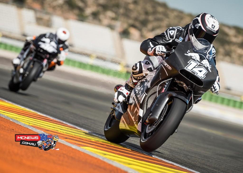 Randy de Puniet & Mika Kallio Test KTM RC16 MotoGP machine at Valencia