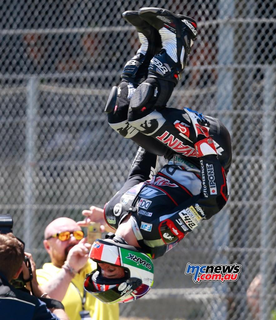 Johann Zarco celebrates Mugello Moto2 victory 2016