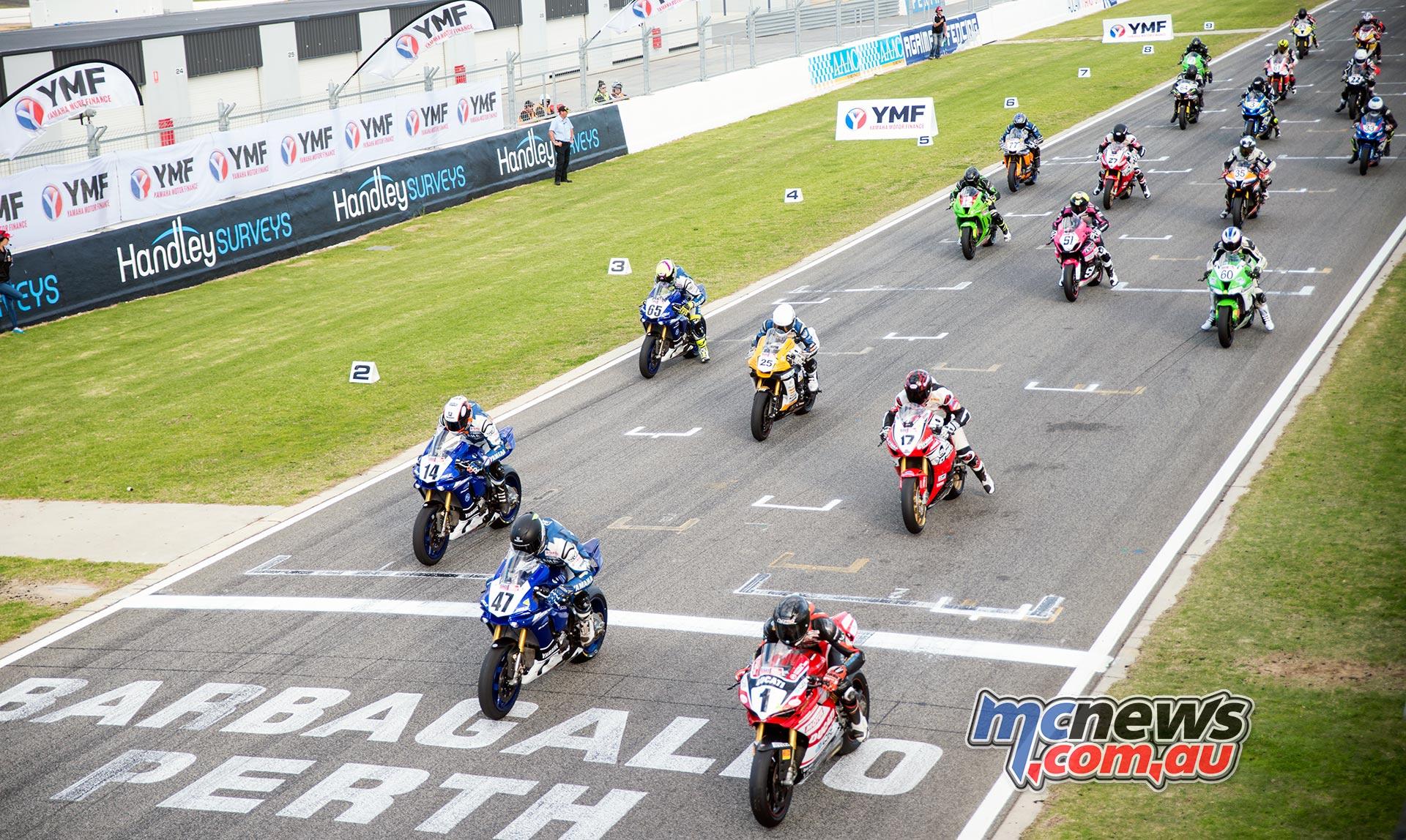 ASBK 2016 - Round Four - Superbike Race Two Start