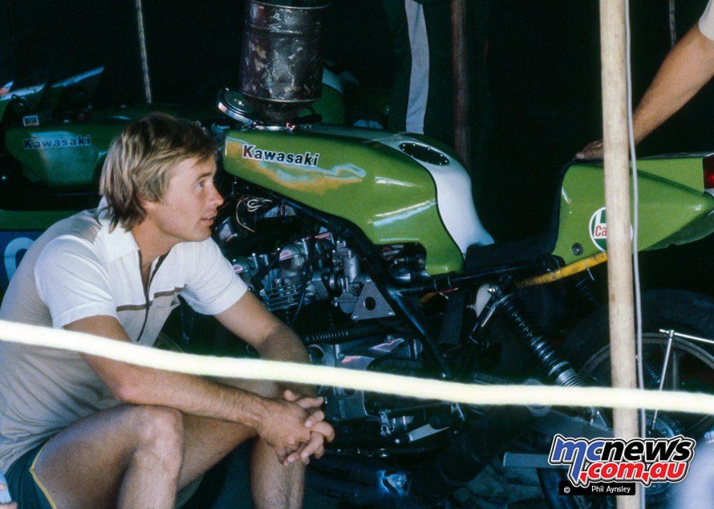 Gregg Hansford with the rare Kawasaki Z1000SR - Arai 500 Bathurst 1980 - Image by Phil Aynsley