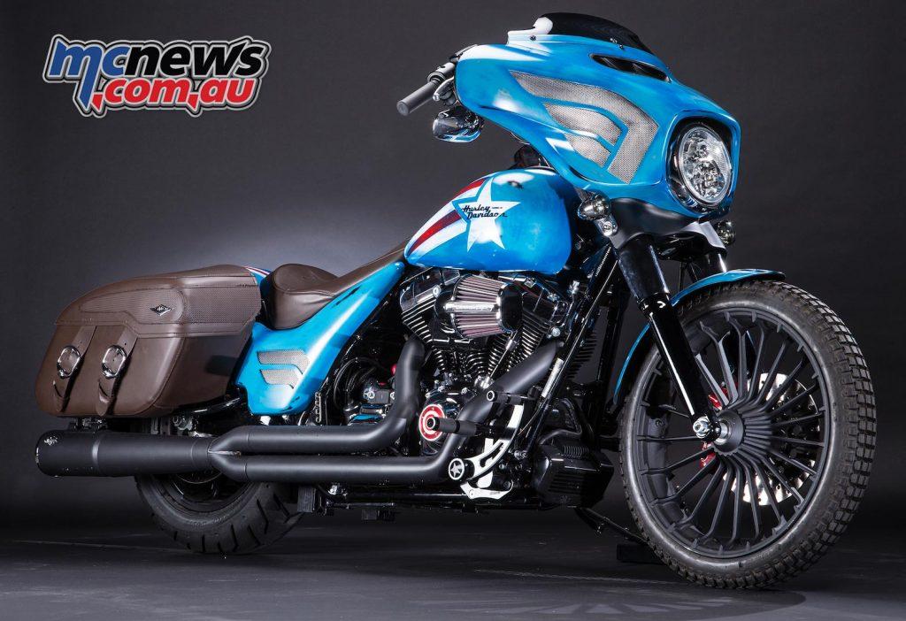 Captain America, Street Glide Special (Touring) – Harley-Davidson Australia & New Zealand head office (NSW)
