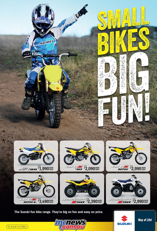 Suzuki Minibikes – Small Bikes, Big Fun