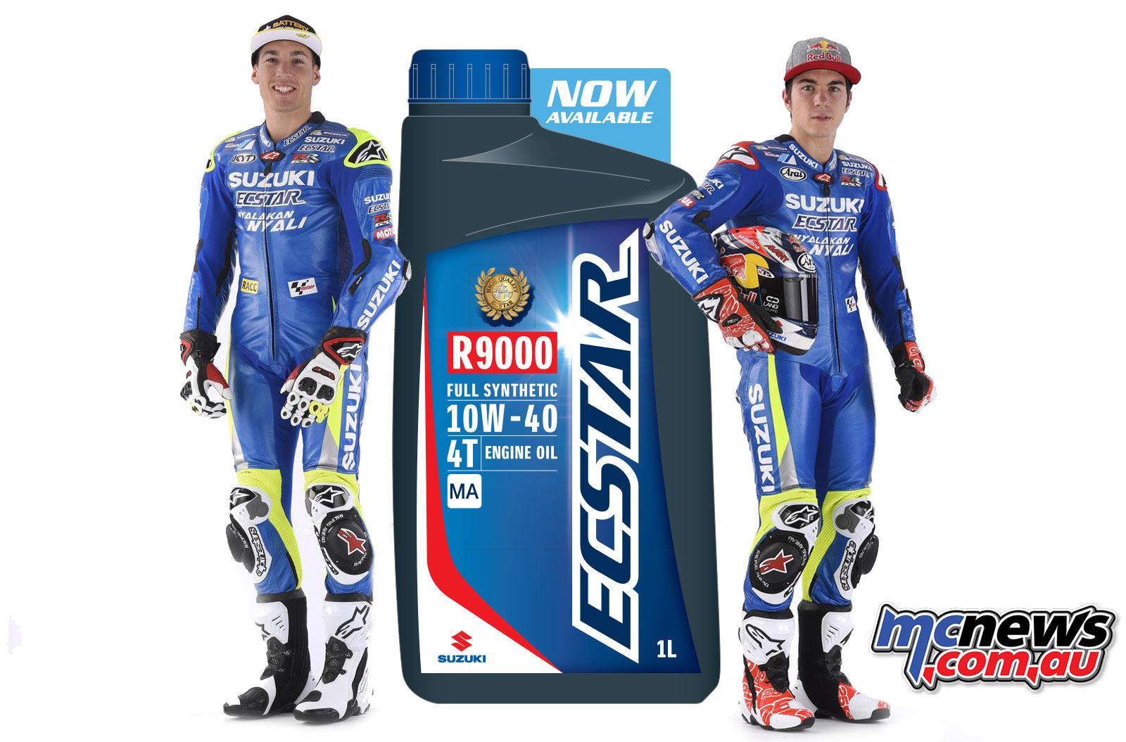 ECSTAR – Suzuki Genuine Motorcycle Oil, teamed with MotoGP riders riders Maverick Viñales and Aleix Espargaro