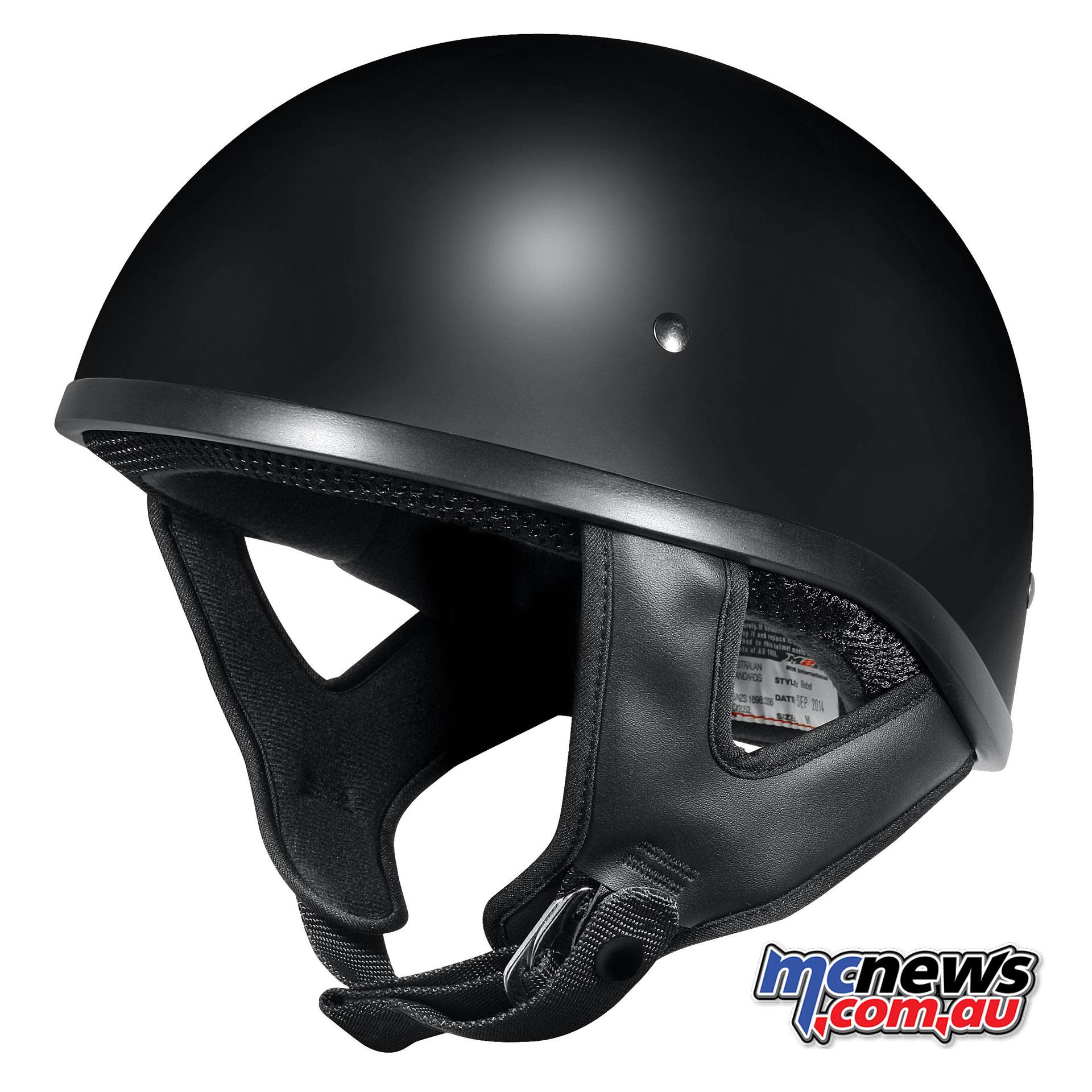 M2R Rebel Shorty Helmet - Semi-Flat Black
