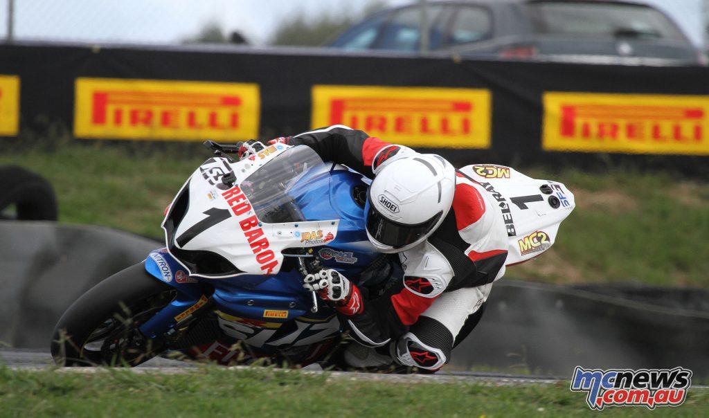 2015 Suzuki Series & 2016 NZ Superbike champion Sloan Frost in action.