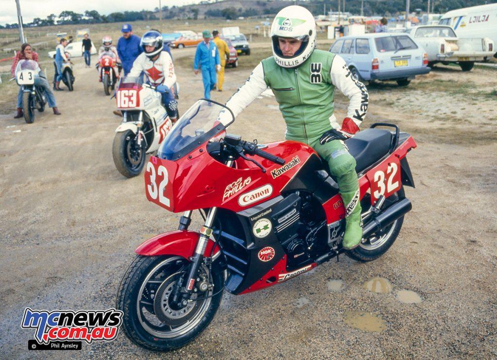 Bathurst 1984 - Robbie Phillis, Kawasaki GPZ900.