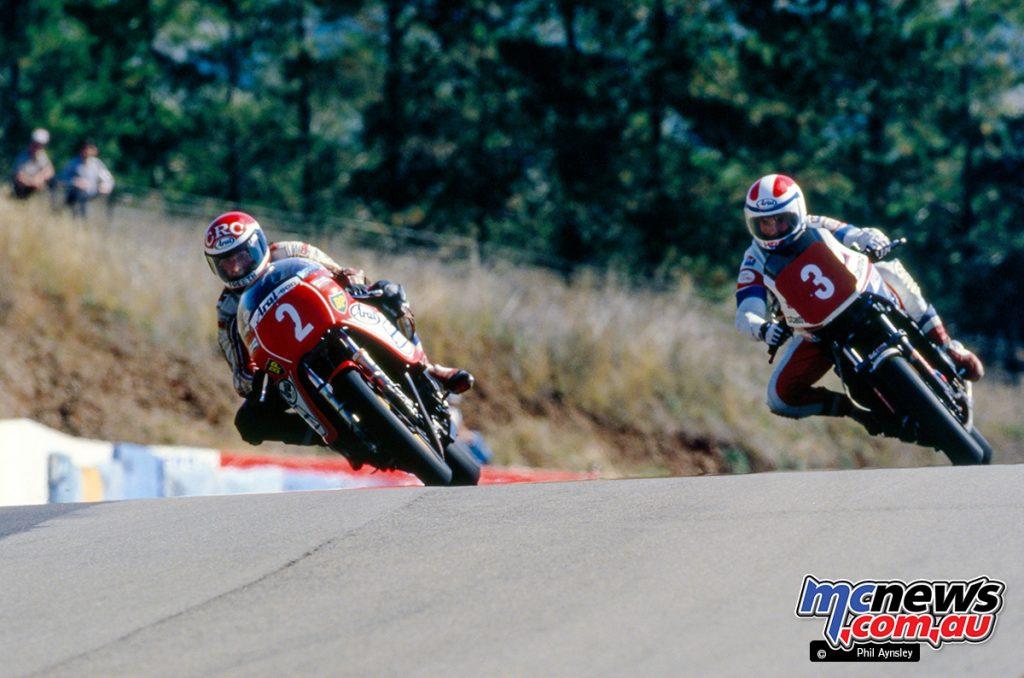 Bathurst 1984 - Roger Freeth/McIntosh Suzuki 1000 and Malcolm Campbell/Honda VF860.