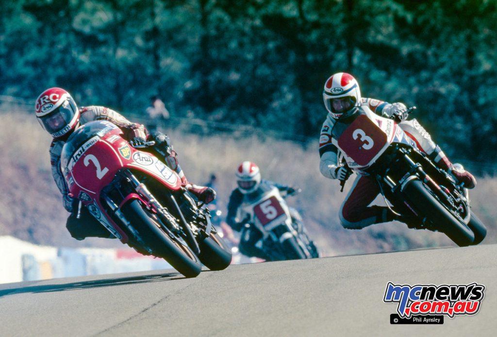 Bathurst 1984 - Roger Freeth/McIntosh Suzuki 1000, Malcolm Campbell/Honda VF860, Alan Feely/Kawasaki 1000.