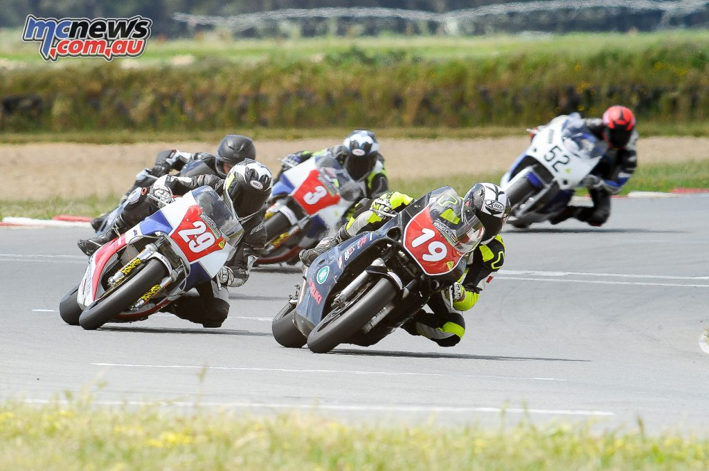 Australian Historic Road Racing Championships 2016 - Image by Colin Rosewarne - Scott Campbell, Mal Campbell and Brett Simmonds
