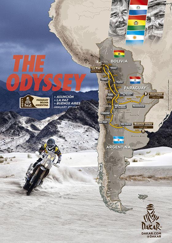 2017 Dakar Rally route poster
