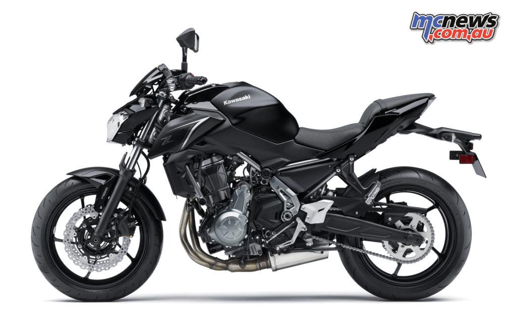 2017 Kawasaki Z650 - Metallic Flat Spark Black / Metallic Spark Black
