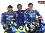 2017 Suzuki Ecstar MotoGP Team - Andrea Iannone, Davide Brivio, Alex Rins