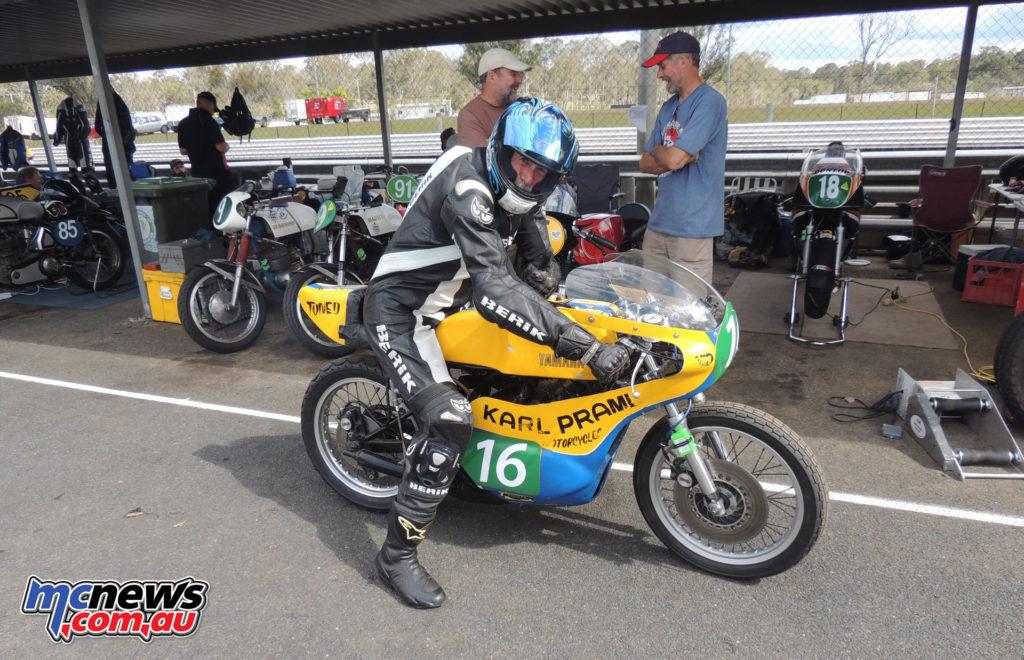 Ant Sykes on the ex-Boulden, Clarke TZ250