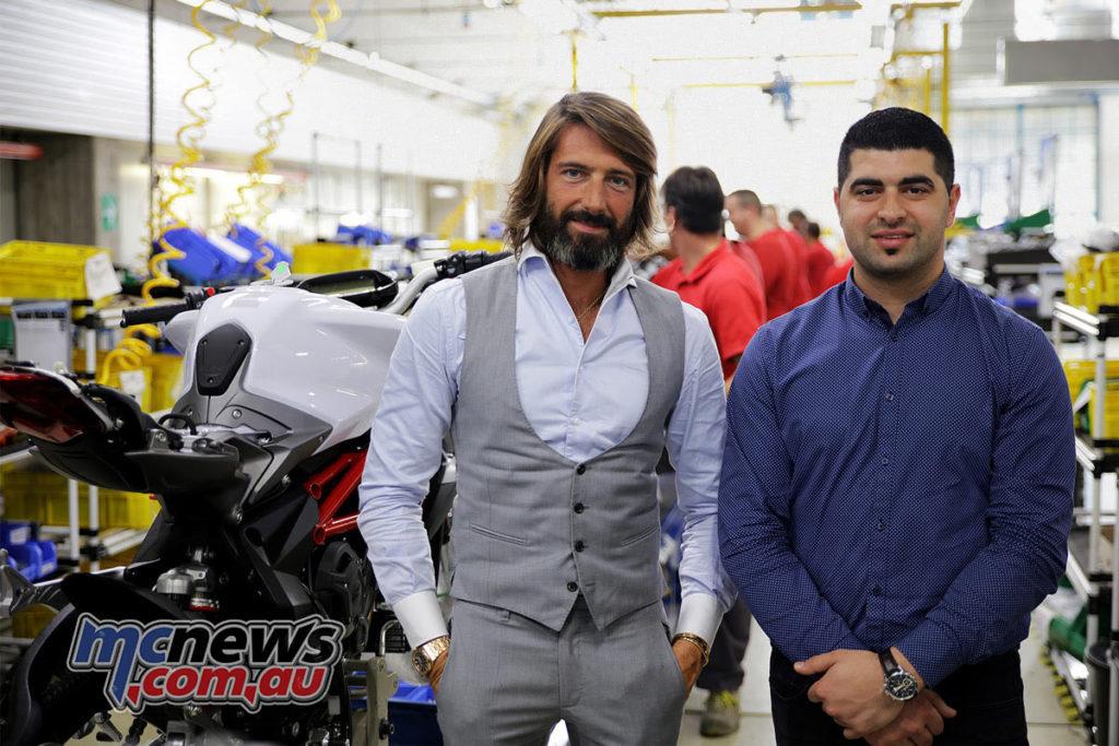 Giovanni Castiglioni, President of MV Agusta and Urban Motor Imports' Joseph Elasmar