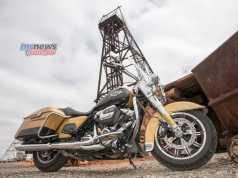 Harley-Davidson Road King pictured at Hannans North Tourist Mine