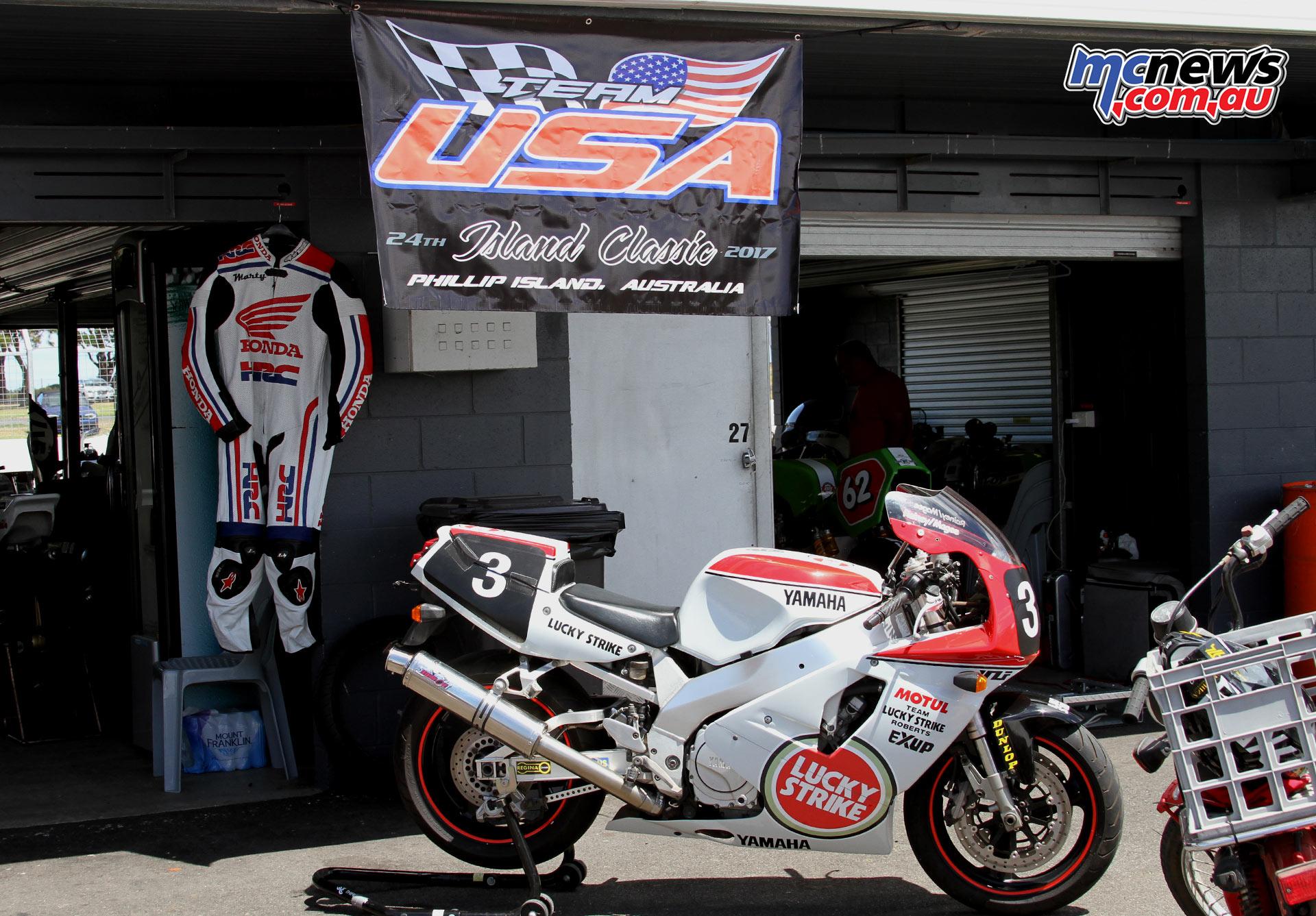 2017 Island Classic - Team USA pit garage