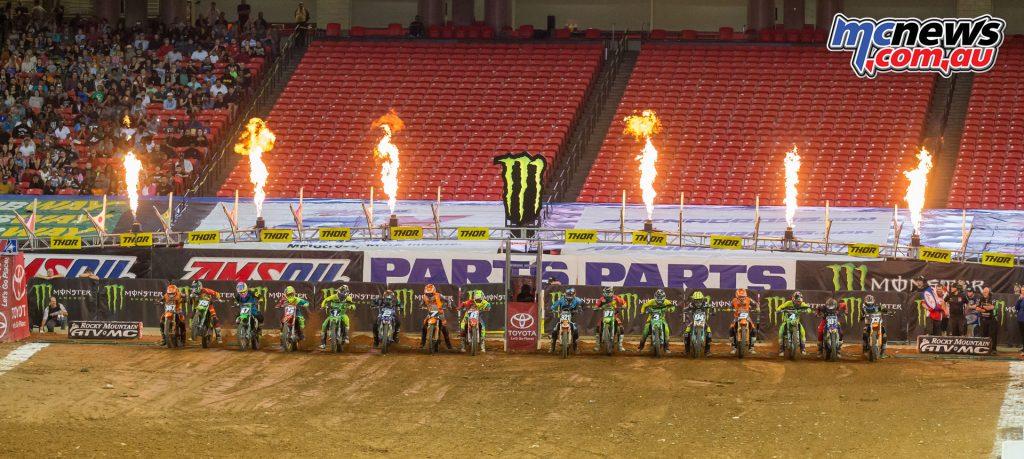 2017 Amsoil Arenacross - Round 7 Atlanta - 250AX Start - Image: ShiftOne Photography