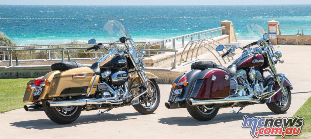 Harley-Davidson Road King and Indian Springfield