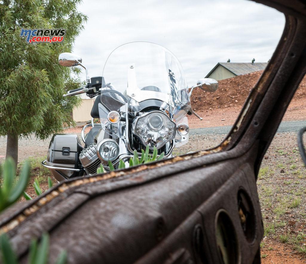 Moto Guzzi California Touring pictured at Hannans North Tourist Mine
