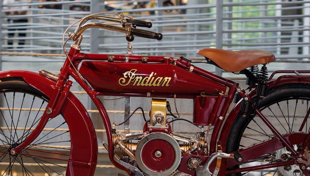 Barber Vintage Motorsport Museum - Early American motorcycles - Indian - Image: Phil Aynsley