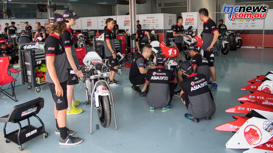 2017 Asia Talent Cup riders get their first introduction to the machinery